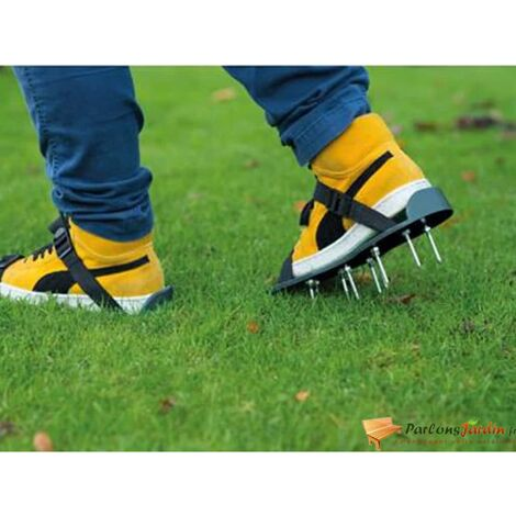 """main image of """"Nature Lawn Aerator Sandals Green - Green"""""""