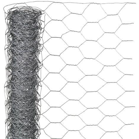 Nature Malla de alambre hexagonal acero galvanizado 0,5x5 m 25 mm
