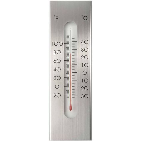 Nature Outdoor Wall Thermometer Aluminium 7x1x23 cm