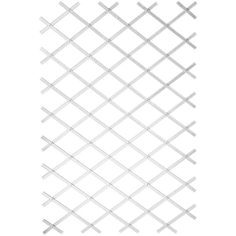 True Deal - Nature Palissade de jardin 100 x 200 cm PVC Blanc