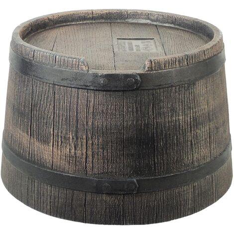 Nature Soporte de barril de lluvia aspecto de madera marrón 30,5x58 cm - Marrón