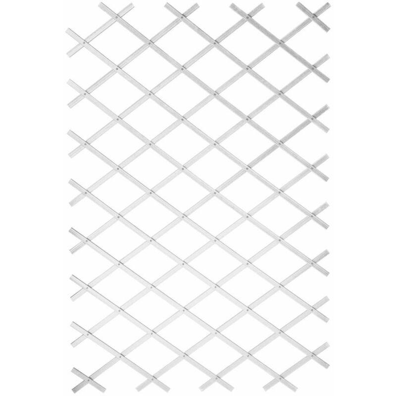 True Deal - Nature Treillis de jardin 100 x 300 cm PVC Blanc