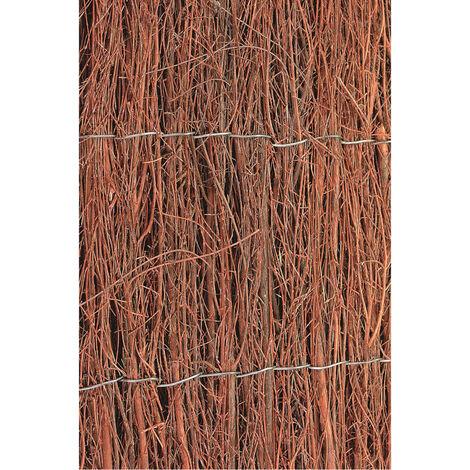 Nature Valla cañizo de jardín de brezo 2 unidades 1x5 m 1 cm de grosor