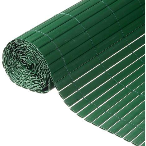 Nature Valla cañizo de ocultación jardín doble cara PVC verde 1,5x3 m - Verde