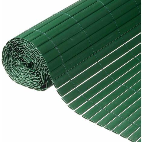 Nature Valla cañizo de ocultación jardín doble cara PVC verde 1x3 m - Verde