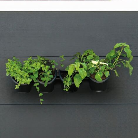 Nature Vertical Garden/Herb and Flower Kit - Black