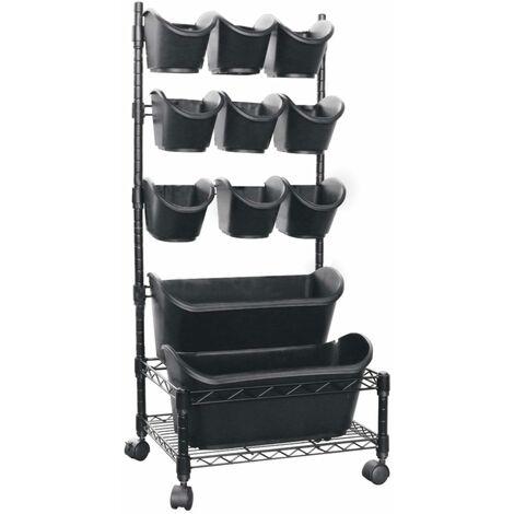 Nature Vertical Garden Mobile Set - Black