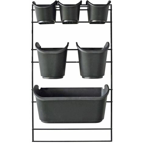 Nature Vertical Garden Wall Kit - Black