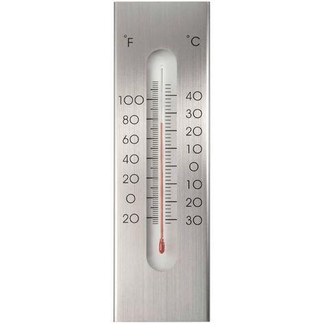 Nature Wall Thermometer Aluminium 7x1x23 cm