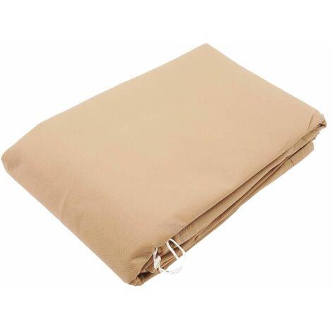 "main image of ""Nature Winter Fleece Cover with Zip 70 g/sqm Beige 2x1.5x1.5 m"""
