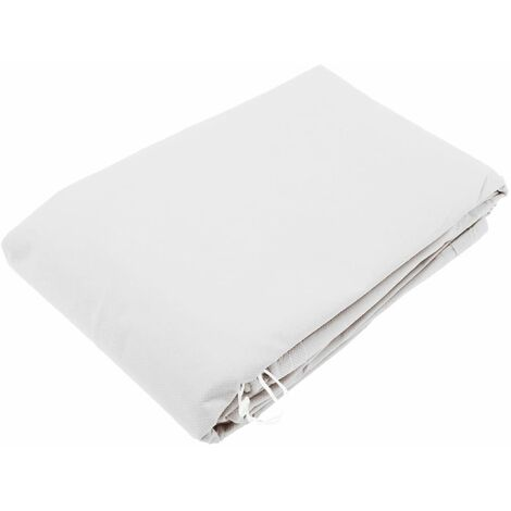 Nature Winter Fleece Cover with Zip 70 g/sqm White 1.5x1.5x2 m - White