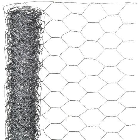 Nature Wire Mesh Hexagonal 0.5x10 m 25 mm Galvanised Steel - Grey