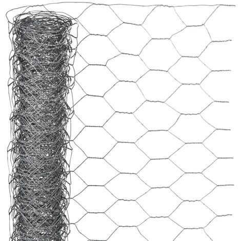 Nature Wire Mesh Hexagonal 0.5x10 m 40 mm Galvanised Steel