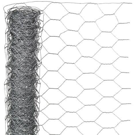Nature Wire Mesh Hexagonal 1x10 m 40 mm Galvanised Steel - Grey