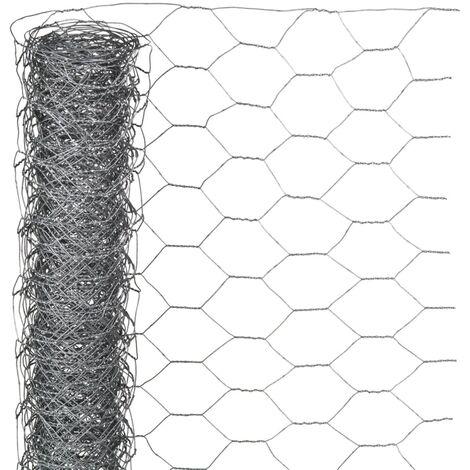Nature Wire Mesh Hexagonal 1x5 m 13 mm Galvanised Steel - Grey