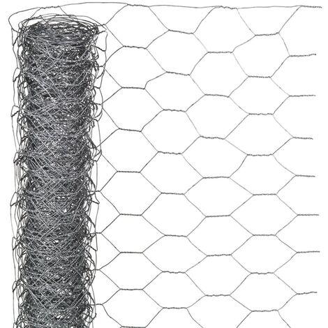 Nature Wire Mesh Hexagonal 1x5 m 40 mm Galvanised Steel - Grey