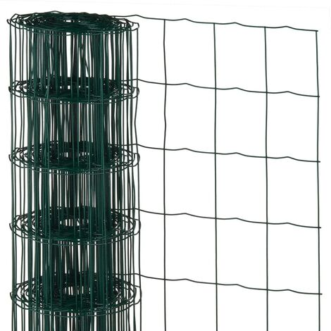 Nature Wire Mesh Rectangular 0.8x10 m Plastic Coated Steel Green - Green