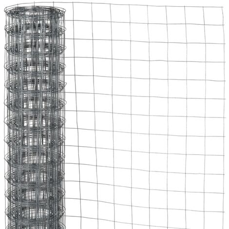 Nature Wire Mesh Square 0.5x2.5 m 13 mm Galvanised Steel - Grey