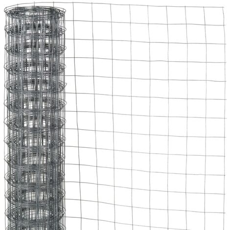 Nature Wire Mesh Square 0.5x2.5 m 6.4 mm Galvanised Steel - Grey