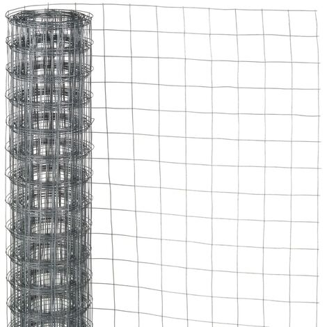 Nature Wire Mesh Square 0.5x5 m 13 mm Galvanised Steel - Grey