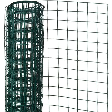 Nature Wire Mesh Square 0.5x5 m 13 mm Plastic Coated Steel Green