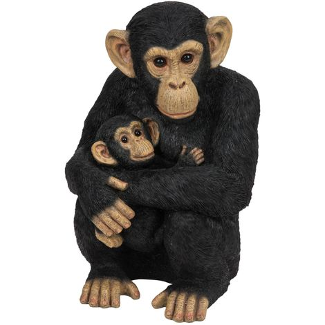 Naturecraft Collection - Chimpanzee with Baby