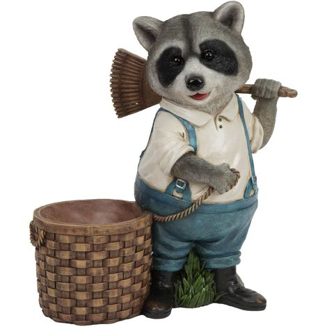 Naturecraft Collection - Raccoon with Basket