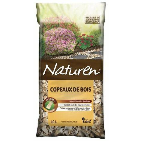 NATUREN Copeaux de Bois non coloré - 40L