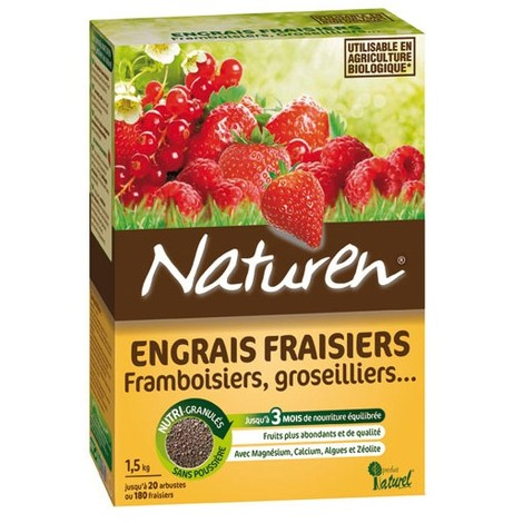 NATUREN - Engrais fraisiers fruits rouges granules - 1.5Kg