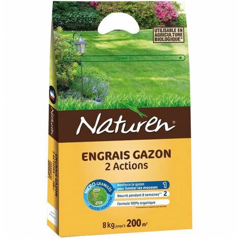 NATUREN - Engrais gazon 2 actions - 7Kg