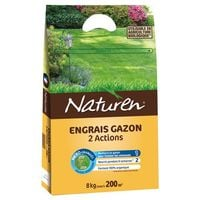 NATUREN - Engrais gazon 2 actions - 7Kg