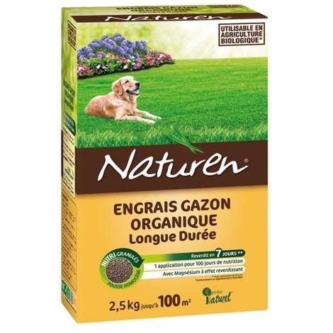 NATUREN - Engrais gazon - 2.5Kg