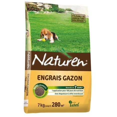 NATUREN - Engrais gazon granules - 7Kg