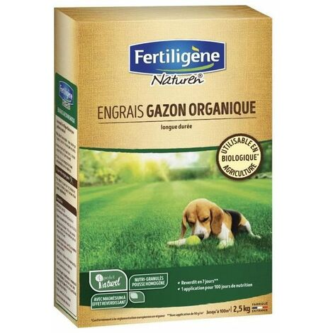 NATUREN engrais gazon organique 100 m² - 2,5 kg