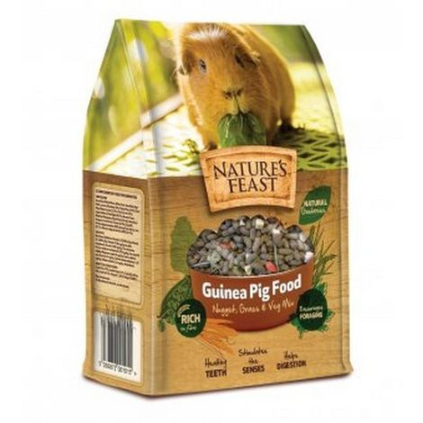Natures Feast Guinea Pig Food Nugget, Grass & Veg Mix (1.5kg) (May Vary)