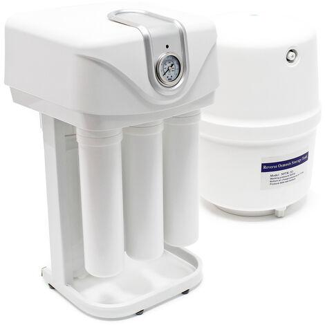 Naturewater 5-etapes osmose inverse 180l/jour avec pompe, manomètre, boîtier étanche à la poussière