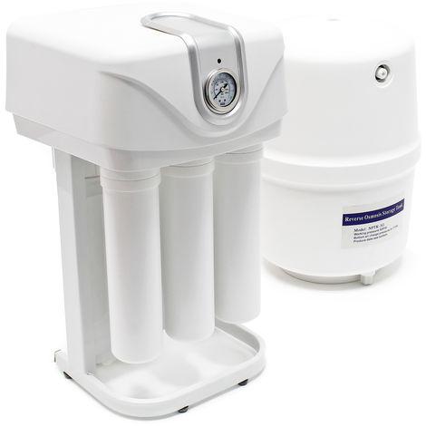 """main image of """"Naturewater Equipo de ósmosis inversa 5-Etapas 180l/día Bomba e indicador presión Filtración agua"""""""