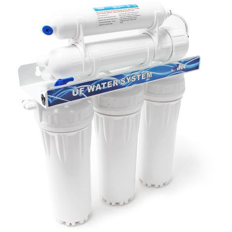 Naturewater Equipo ultrafiltrado de agua 5 Etapas 2000 l/día Tratamiento de agua doméstica grifo