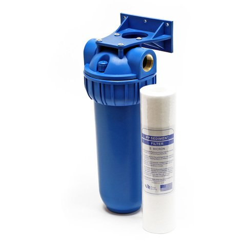 """Naturewater NW-BR10B1 1 etape système filtre 26.16mm (3/4"""") 60mm cartouche polypropylène, clamp, clé"""
