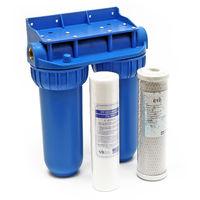 """Naturewater NW-BR10B2 filtre double 26.16mm (3/4"""") cartouche polypropylène, bloc charbon actif, clé"""