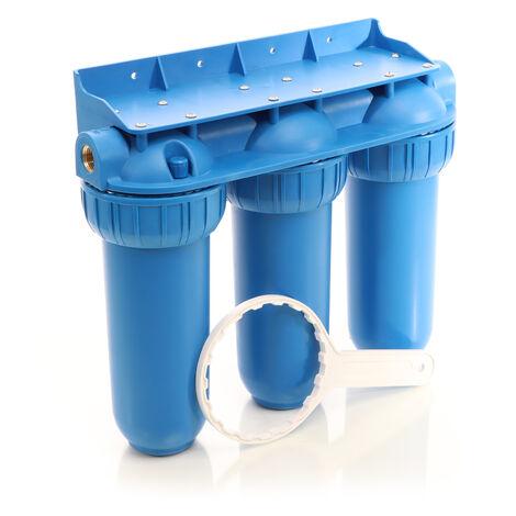 """Naturewater NW-BR10B5 Filtro de agua 3-etapas 26,16mm (3/4"""") Cartucho sedimentos Carbón activado"""