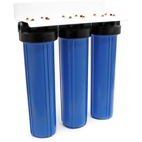 """Naturewater NW-BRL03 3 etapes système filtre 32.89mm (1"""") avec filtre à sédiments, bloc charbon acti"""
