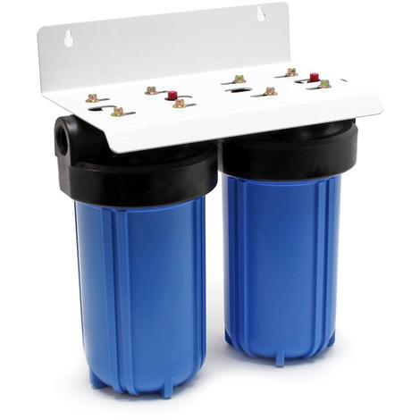 bloc charbon actif et cl/é Naturewater NW-BR10B2 filtre double 32.89mm cartouche polypropyl/ène 1