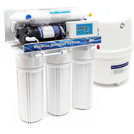 Naturewater NW-RO50-D1 Equipo osmosis inversa (RO) 190l/día Filtración agua Filtro doméstico osmosis