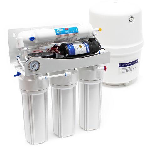 Naturewater NW-RO50-F Equipo osmosis inversa (RO) 5-Etapas 180l/día Con bomba de aumento de presión