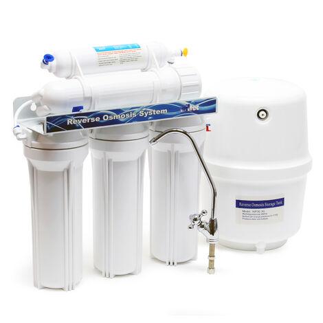 Naturewater Système Osmose inverse RO 190L/jour NW- RO50-NP35 Traitement Filtration Eau potable