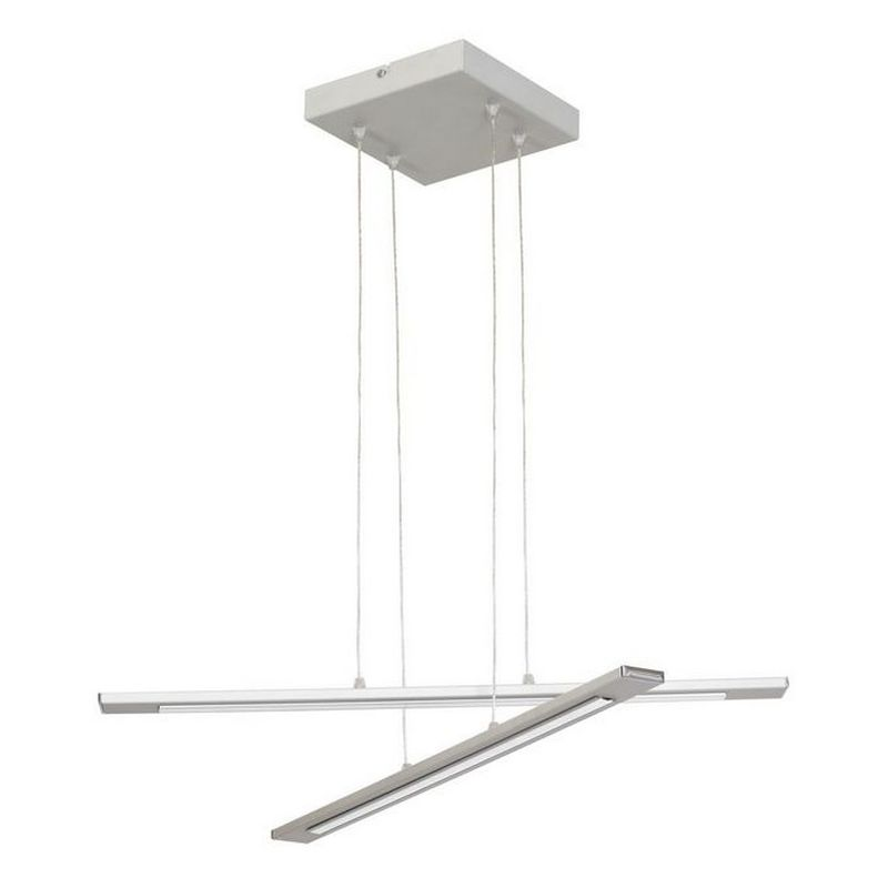Homemania - Navis Haengelampe - Kronleuchter - Deckenkronleuchter - Grau aus Metall, 61 x 61 x 80 cm, 2 x LED, 12W, 1260LM, 6000-8000K