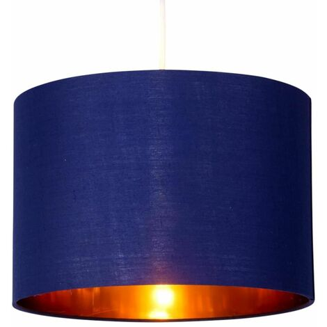 Navy Blue 25cm Light Shade with Gold Inner