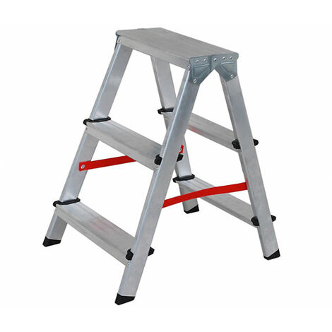 Nawa Escalera de Aluminio 3 peldaños tijera doble acceso plegable Escalera de Aluminio 2 peldaños tijera doble acceso plegable Escalera de Aluminio 2 peldaños tijera doble acceso plegable