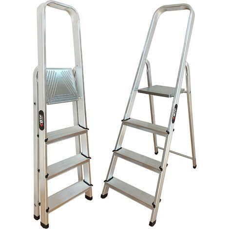 Nawa Escalera Domestica de Aluminio 4 Peldaños EN 131 Capacidad M·x. 150 kg